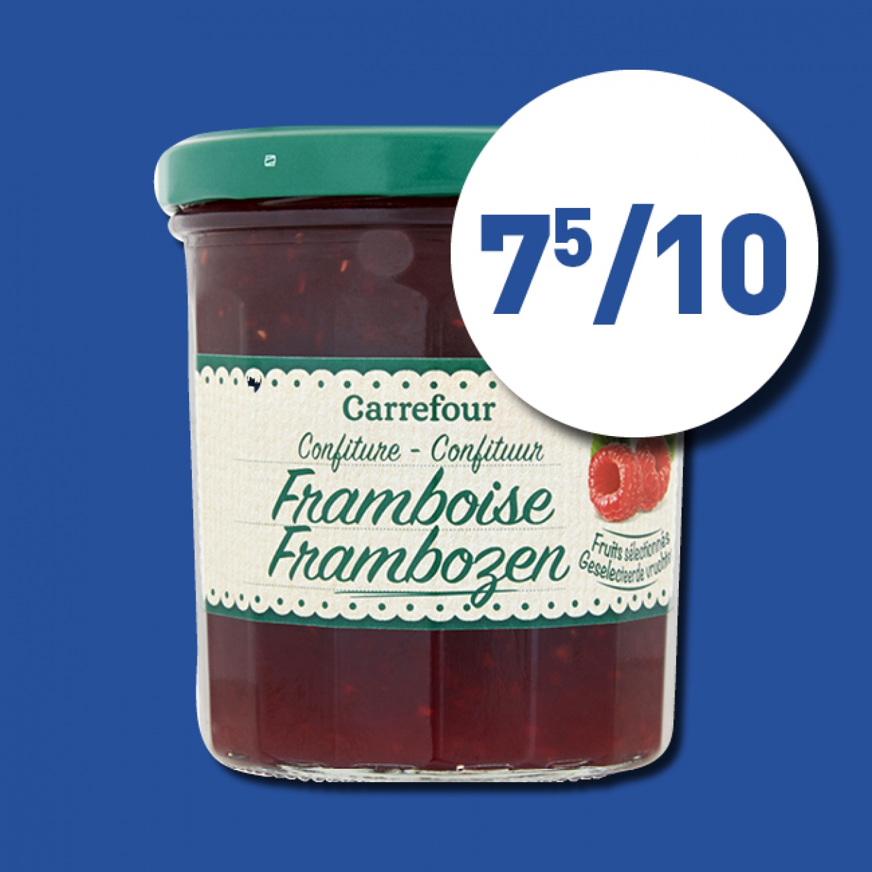 Confiture framboise Carrefour