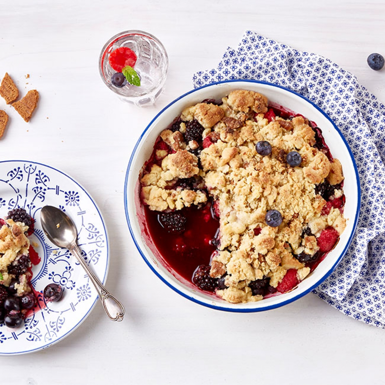 Crumble fruits rouges Carrefour