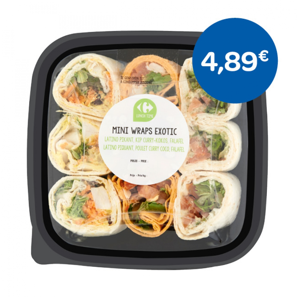 Mini wraps exotic Carrefour