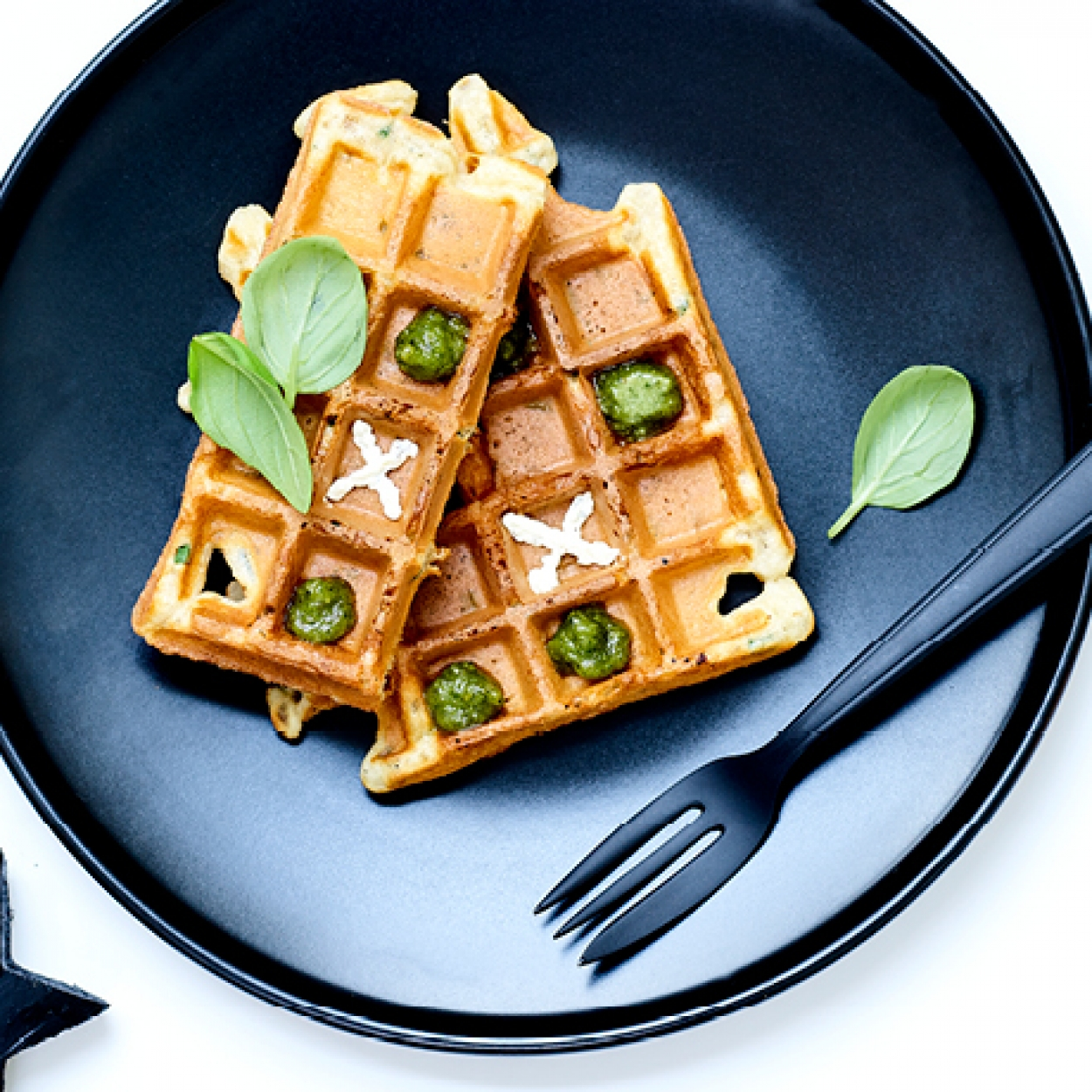 Gaufre herbes pesto fromage herbes Carrefour